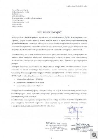 kolbuszowa ul. jana pawała devkol list referencyjny z 05.03.20181 c715a